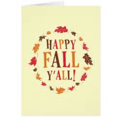 happy fall y all card zazzle