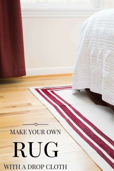 how to make your own area rug make your own rug easy drop cloth project the handyman
