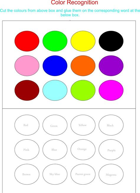 Find By Recognition Color Recognition 28 Images Color Worksheets For Preschool Coloring Home Color