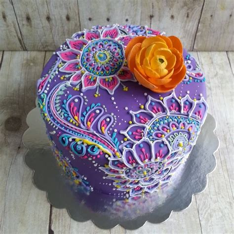 pattern cakes pinterest henna inspired cake the cocoa cakery cake inspirations
