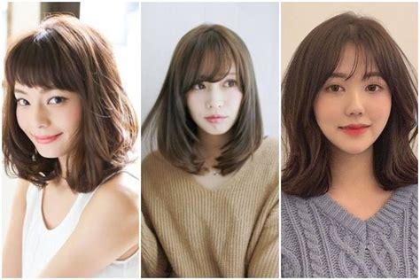 model rambut sebahu  rambut tipis ala korea womantalk