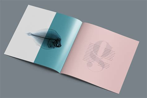 mockup design for brochure square brochure mockup free design resources