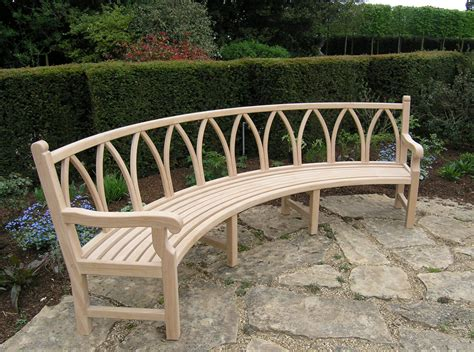 outdoor curved bench products cotswold woodland crafts