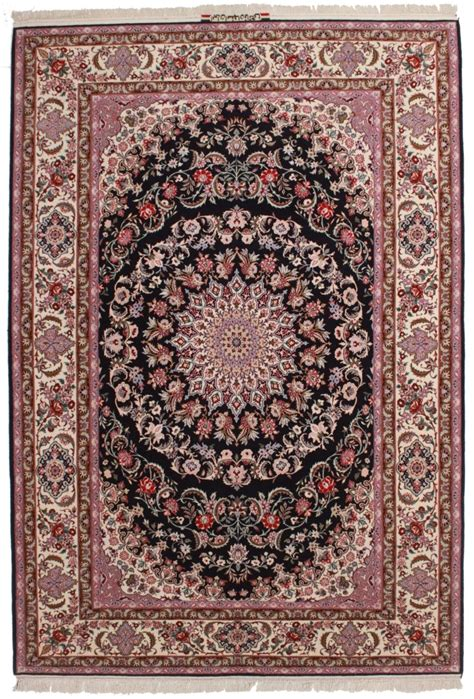 7 X 10 Area Rugs Signed Vintage Persian Isfahan 7 X 10 Area Rug 14143