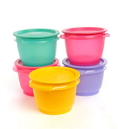 Kitchen Storage Canisters by Buy Tupperware One Touch Bowls 5 Pc Set Online Airtight