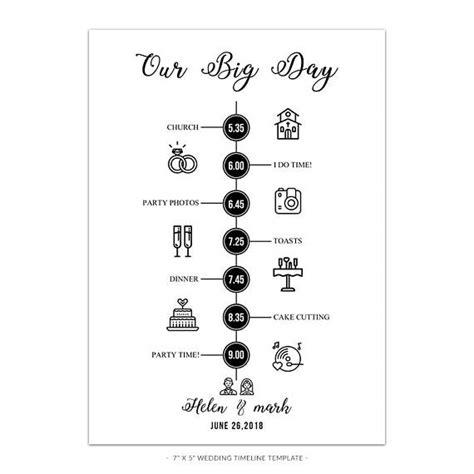 Hochzeitseinladung Timeline by Wd3 Wedding Timeline Template