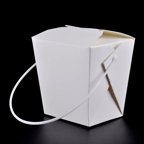Paper Box Lunch Ukuran M disposable paper lunch box with handle eco friendly 4 size