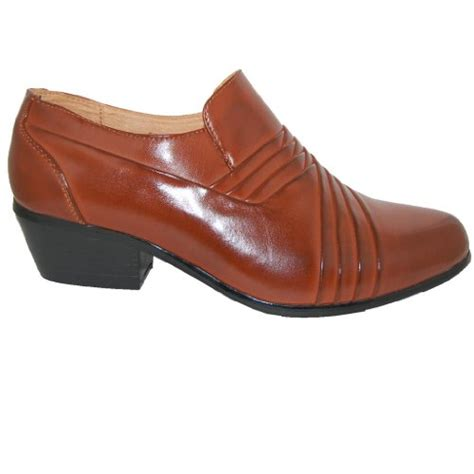bossman brown 2 inch high cuban heel shoes buy