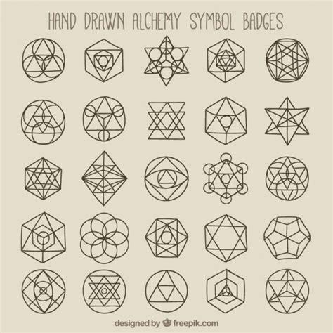 geometric tattoo vector geometric symbols and badges vector free download