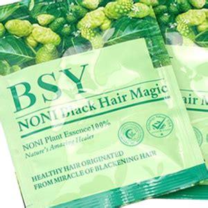Bsy Black Hair Magic Shoo Noni Penghitam Uban noni bsy menghilangkan uban penghilang uban
