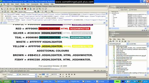 Text Decoration Style by Screencast Of Css Text Decoration In Dreamweaver Mx Hd
