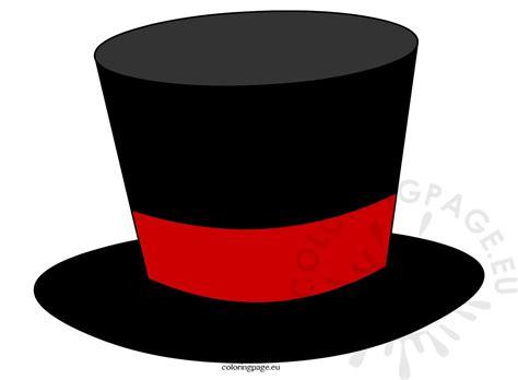 Magician Hat black top hat magician coloring page