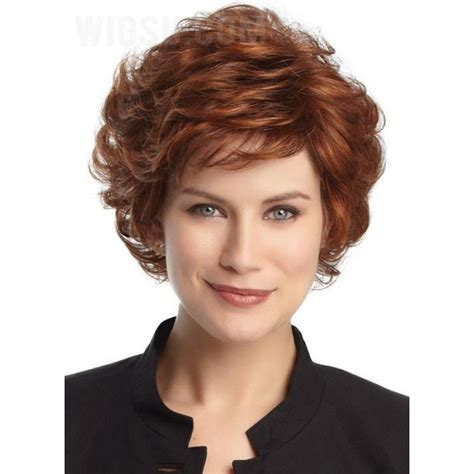 short layered curly hairstyles for wavy hair sassy short curly layered haircut synthetic hair