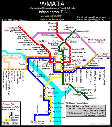 washington dc map subway world nycsubway org washington d c