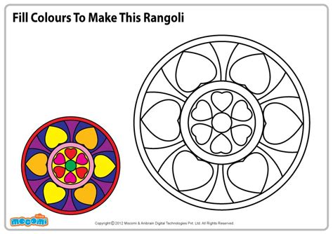 pattern of drawing rangoli rangoli pattern colouring pages for kids mocomi