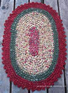 crochet oval rag rugs by donna jacobson crocheting pattern