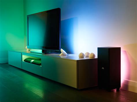 philips hue light strip behind tv eyes on with philips ambilight hue stuff