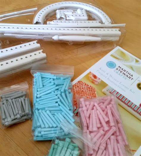 loom knitting kit yarny with the martha stewart knit weave loom kit