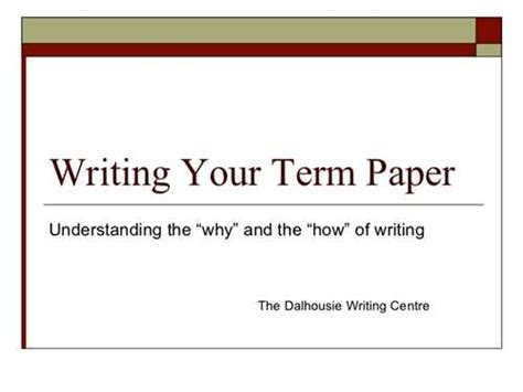 how to write a term paper 订阅关于how to write term papers and reports的评论