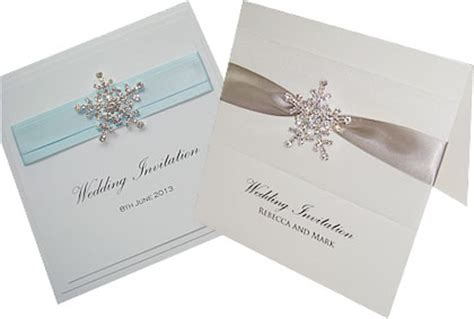 winter wedding invitations snowflakes diamantes glitter and sparkle bubbly creations