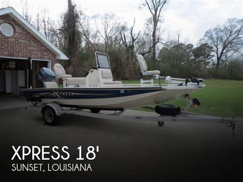 xpress bay boats for sale in louisiana for sale used 2014 xpress h18b hyper lift bay in sunset