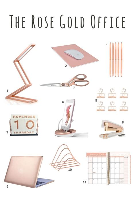 pink and gold desk accessories de 20 b 228 sta id 233 erna om pink gold office p 229