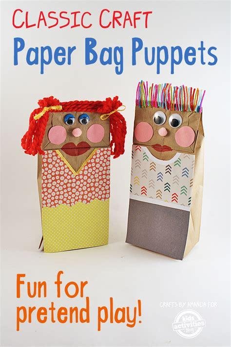 How To Make Puppets With Paper Bags - classic craft paper bag puppets