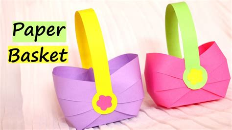 Easy Crafts To Make Out Of Paper - how to make a paper basket for easter 2017 easy paper