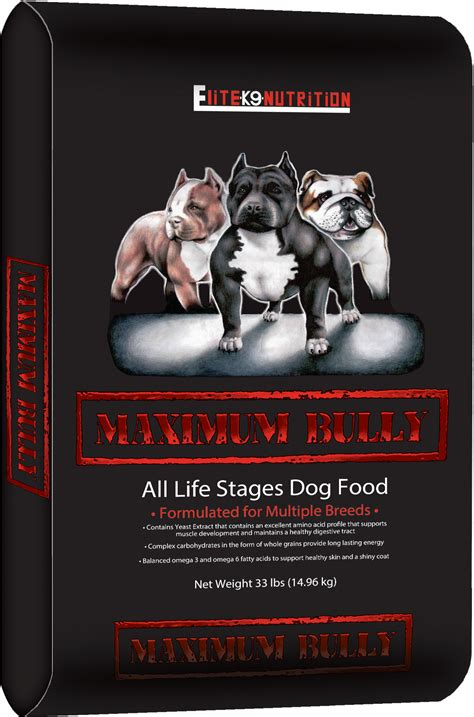 maximum bully food food brands elite k9 nutrition