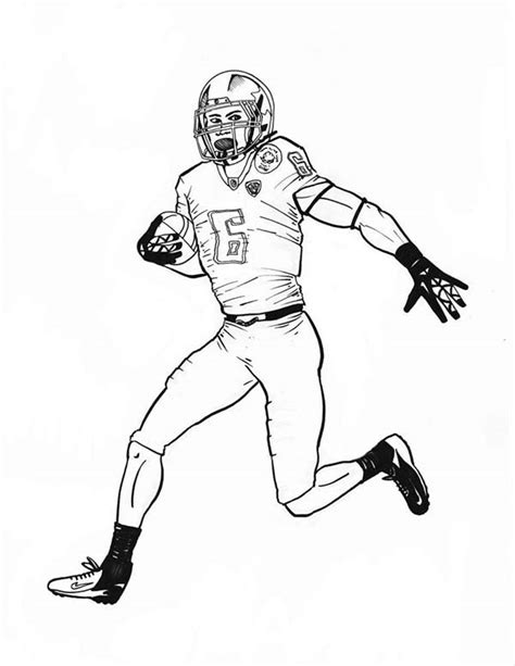 Printable Football Player Coloring Pages Coloring Me Football Player Color Pages