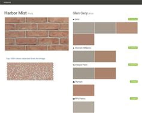 exterior paint sle colors pink brick front of the house paint