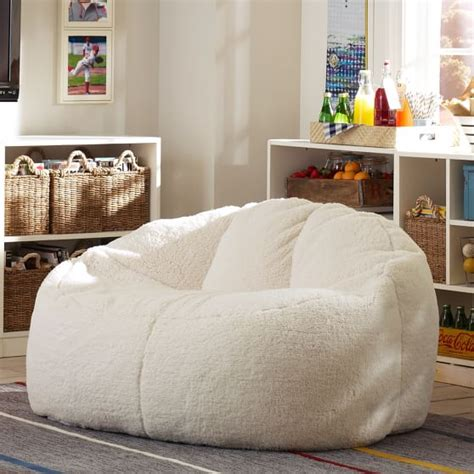 couch teen ivory sherpa faux fur cloud couch pbteen