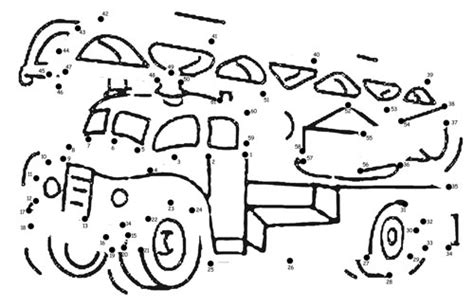 printable fire truck maze fire truck dot to dot printable printable treats com