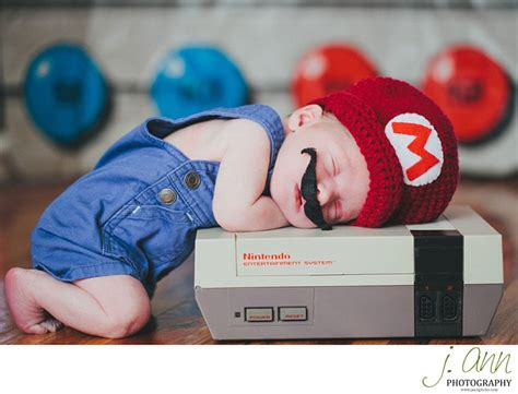 up with nintendo s adorable parents dress up their snoozing newborns in and wars costumes daily mail