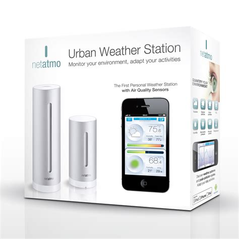 netatmo weather station and air quality monitor for
