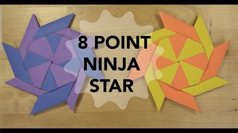 8 Point Origami - how to make an 8 point that transforms simple