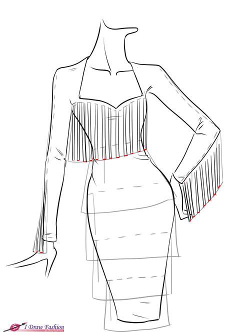 pattern drawing dress how to draw fringe how to draw fringe dress i draw