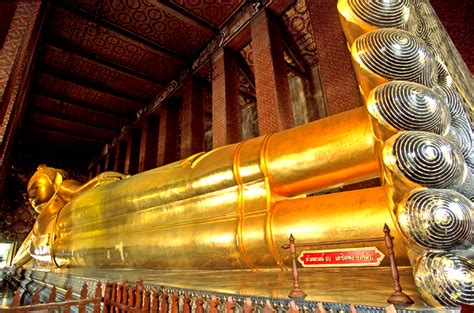 Reclining Budda by See The Reclining Buddha Wat Pho Temple Bangkok