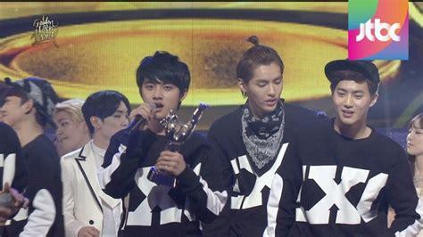 exo daesang 내 지역 lee yoonra exo menangkan daesang di 28th golden disk