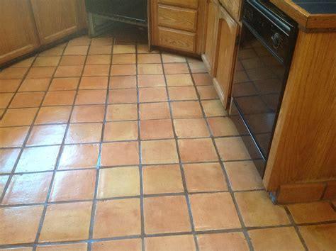 Antique Saltillo Floor Cleaning & Refinishing in Santa Cruz Ca