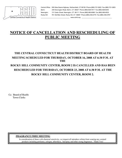 event cancellation notice letter event cancellation notice sle invitation templates