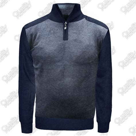 Sweat Neck Chocker mens knitted jumper zip up neck pullover high collar sweater sweat shirt tops