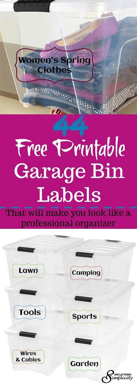 Garage Storage Labels Best 25 Free Printable Labels Ideas On
