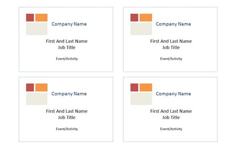 Compatible With Avery Name Badge Template 5395 Avery Badge Template