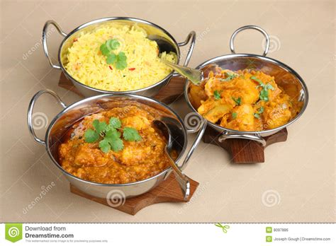indian curry dinner indian curry meal royalty free stock image image 8097886