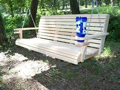 comfort springs for porch swing 5 ft usa made cypress roll back porch swing with swing