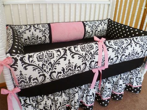 custom crib bedding set damask by pljdesign on etsy