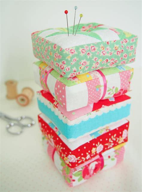 Patchwork Pincushion Free Patterns - quilt block pincushions marla s page
