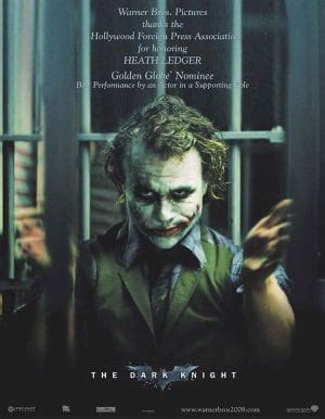 Heath Ledgers Joker Poster Was A by Picture Of The