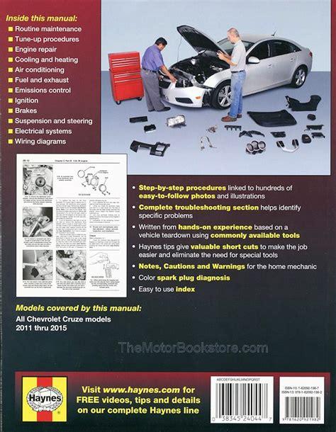 chevrolet cruze repair manual 2011 2015 by haynes